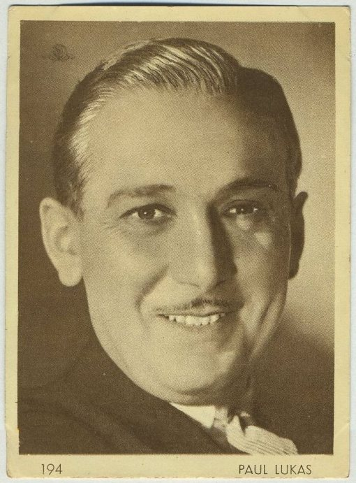 Paul Lukas 1930s Aguila Chocolates Trading Card