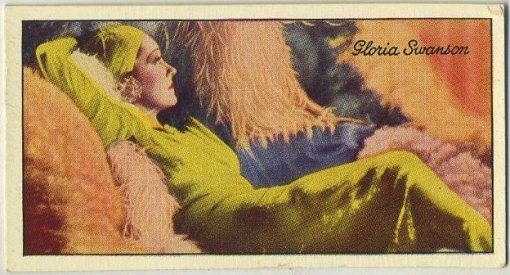 Gloria Swanson 1935 Carreras Film Stars tobacco card