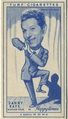 Danny Kaye 1949 Carreras Turf Tobacco Card