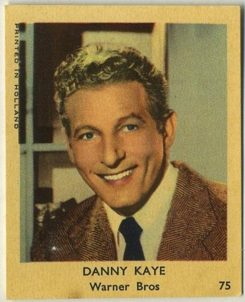 Danny Kaye 1954 Klene Dutch Trading Card