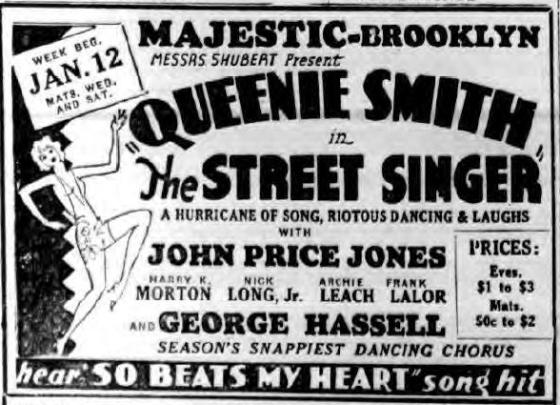 1931 ad for The Street Singer