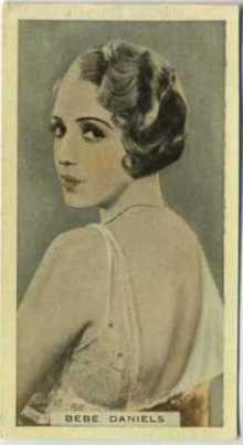 Bebe Daniels 1933 Godfrey Phillips Tobacco Card