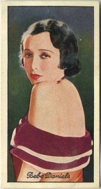 Bebe Daniels 1935 Careras Film Stars Tobacco Card