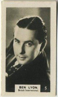 Ben Lyon 1934 Bridgewater Trading Card