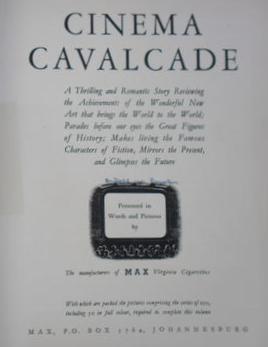 Cinema Cavalcade Vol 1 Title Page