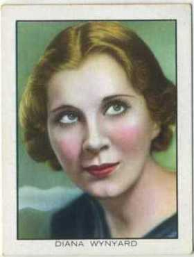 Diana Wynyard 1933 BAT Tobacco Card