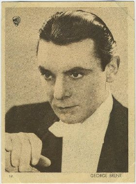 George Brent 1930s Aguila Trading Card