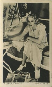 Glenda Farrell 1938 Polo L Chilean Tobacco Card