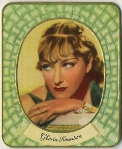 Gloria Swanson 1930s Garbaty Tobacco Card