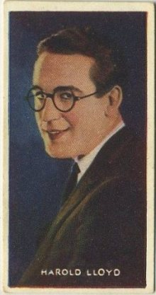 Harold Lloyd 1927 Amalgamated Press Trading Card