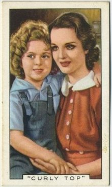 Shirley Temple and Rochelle Hudson 1936 Gallaher Film Episodes Tobacco Card