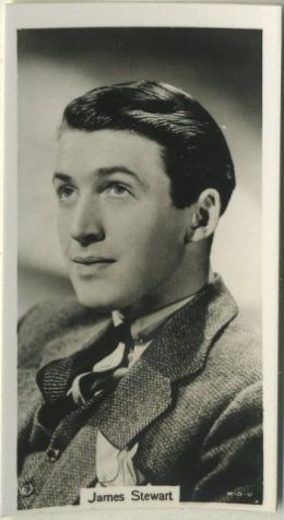 James Stewart 1939 RJ Lea Famous Film Stars Tobacco Card