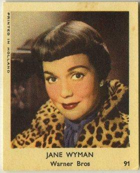 Jane Wyman 1954 Klene Trading Card