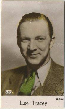 Lee Tracy 1935 Bridgewater Trading Card