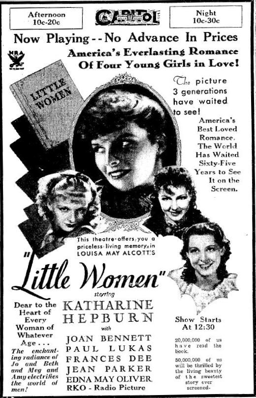 Little Women advertisement