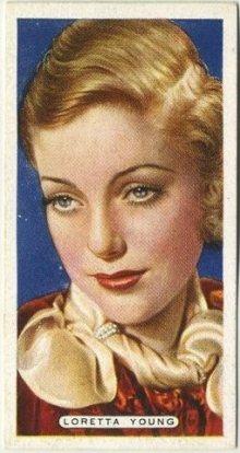 Loretta Young 1935 Ardath Tobacco Card