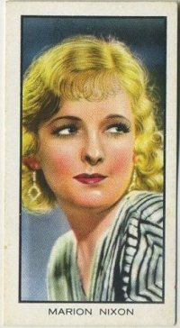 Marian Nixon 1935 BAT Cinema Celebrities Tobacco Card