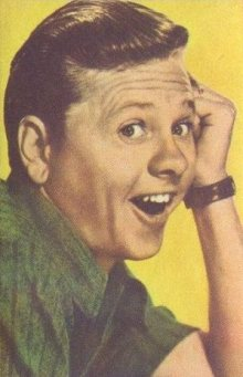 Mickey Rooney 1951 Artisti del Cinema Trading Card