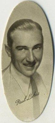 Paul Lukas 1934 Carreras Film Stars Tobacco Card
