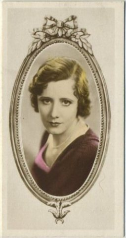 Irene Dunne 1934 Godfrey Phillips Stars of the Screen Tobacco Card