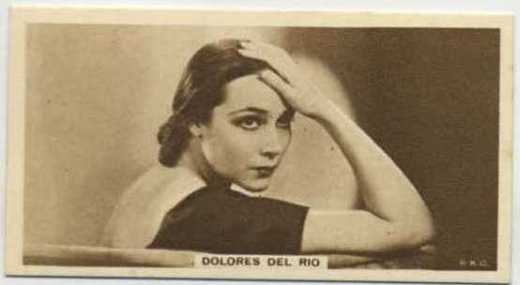 Dolores Del Rio 1933 United Kingdom Cinema Stars Tobacco Card