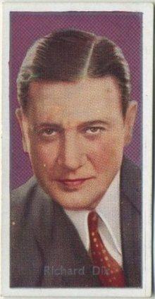 Richard Dix 1936 Carreras Tobacco Card