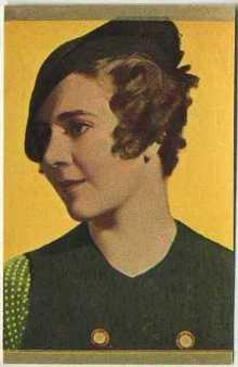 Ruby Keeler 1930s Danmarks Trading Card