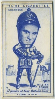 William Bendix 1949 Turf Tobacco Card