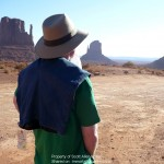 Three Bad Men author Scott Allen Nollen at Monument Valley