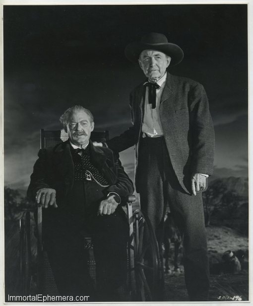 Lionel Barrymore and Harry Carey