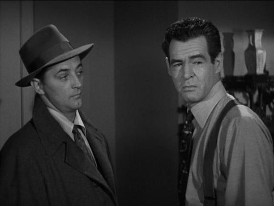 Robert Mitchum and Robert Ryan