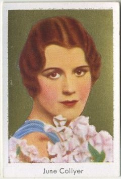 June Collyer 1930s Bulgaria Tobacco Card