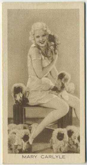 Mary Carlisle 1931 BAT Cinema Artistes Tobacco Card