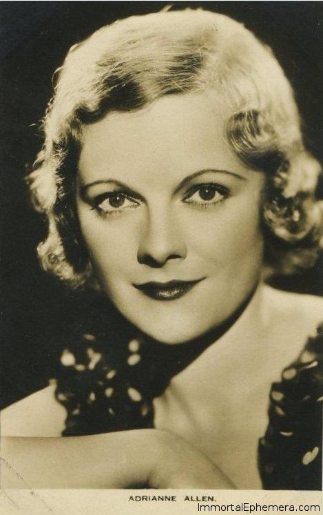 Adrianne Allen 1930s Film Weekly Postcard