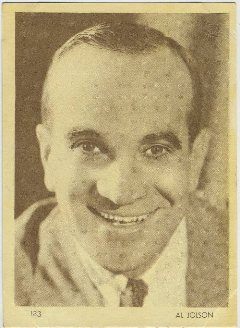Al Jolson 1930s Aguila Trading Card