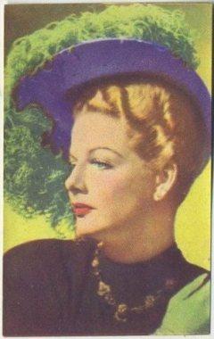 Ann Sheridan 1951 Artisti del Cinema Trading Card