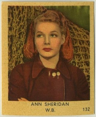 Ann Sheridan 1954 Klene Dutch Trading Card