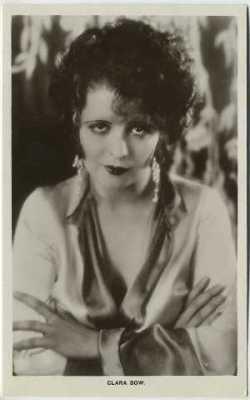 Clara Bow vintage 1930s real photo postcard
