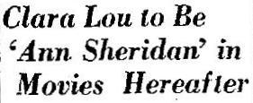 Clara Lou now Ann Sheridan