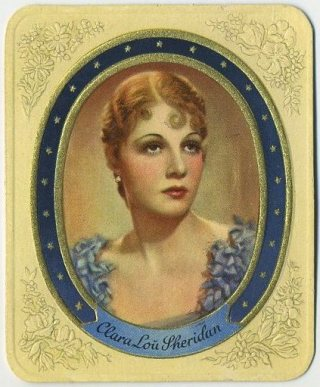 Clara Lou Sheridan 1930s Garbaty German Tobacco Card
