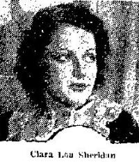 Clara Lou Sheridan 1933 clipping