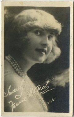 Fannie Ward 1910s Kinema Theatre Advertising Card
