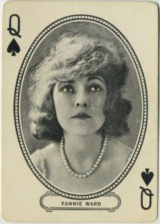 Fannie Ward 1916 MJ Moriarty Playing Card