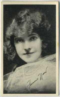 Fannie Ward 1917 Kromo Gravure Trading Card