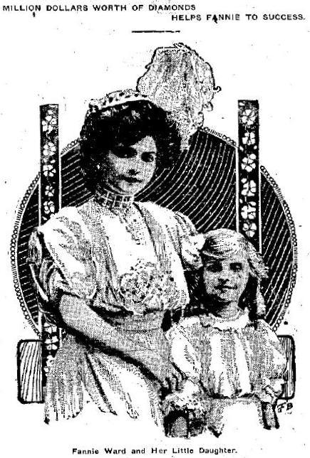 Fannie Ward and daughter 1908