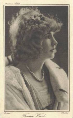 Fannie Ward 1910s Cinema Chat Postcard