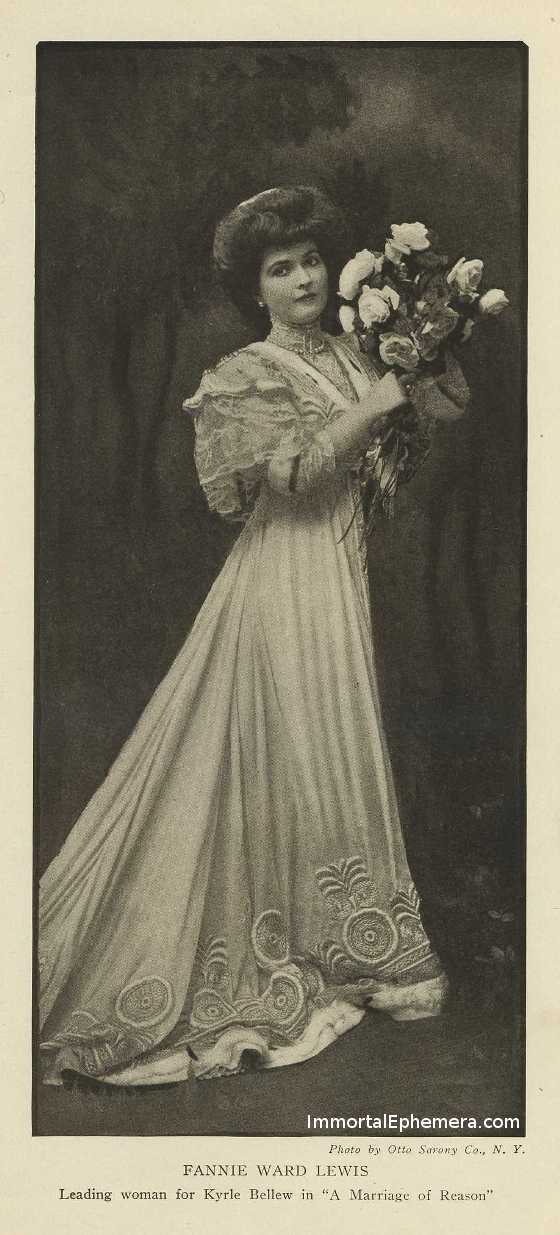 Fannie Ward Lewis in the July 1907 issue of Burr McIntosh Monthly