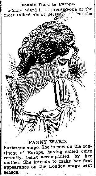 Fannie Ward to England