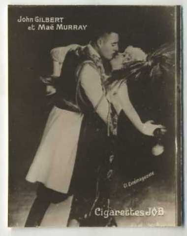 John Gilbert and Mae Murray 1926 Societe Job Tobacco Card