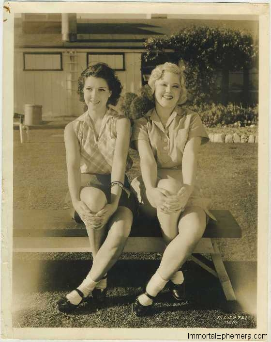 Jean Parker and Mary Carlisle 1930s Promotional Portrait
